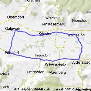 Walchsing-Galgweis-Pörndorf-Aldersbach-Walchsing