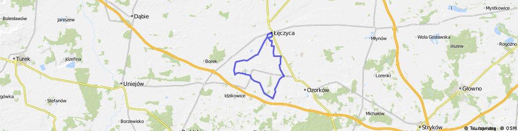 Wycieczka rowerowa w okolicach Łęczycy - część południowa