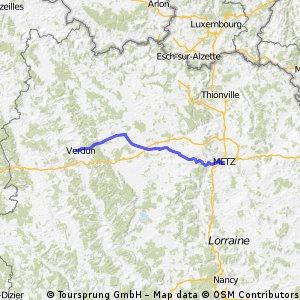 Von Metz bis Verdun