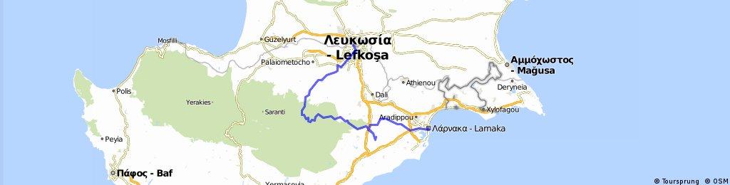 Larnaka-Stavrovouni monastary-Machairas monastary-Nikosia