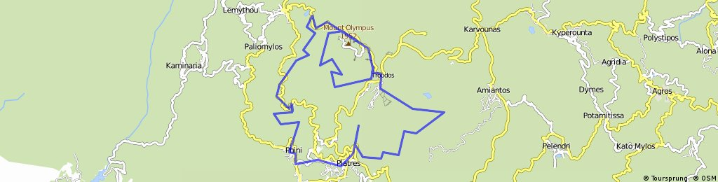 Around Troodos-Foini-Pano Platres-Troodos