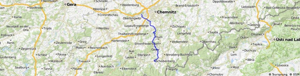 Chemnitz-Grüna - Scheibenberg