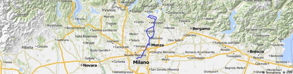 Milano-Monza-Monticello-Garbagnate M.-Casatenovo-Milano