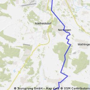 Burgdorf->Celle (Badeland) mit S-Bahn zurück