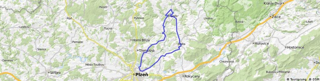 Plzeň - Břasy - Liblín - Nynice - Plzeň