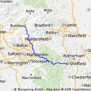 Sheffield to Burnley via manc.