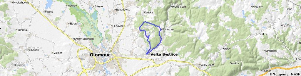 17 km Bystřice- Posluchov- Kopeček