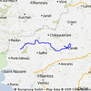 Home designed  Le Tour de France (HTF)stage 1:Plesse>Vritz