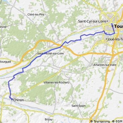 Loire-Radweg: Tours – Chinon