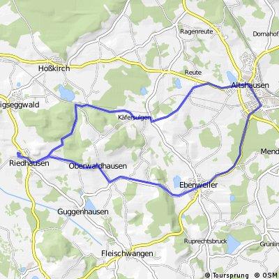 Riedhausen => Altshausen und zurück