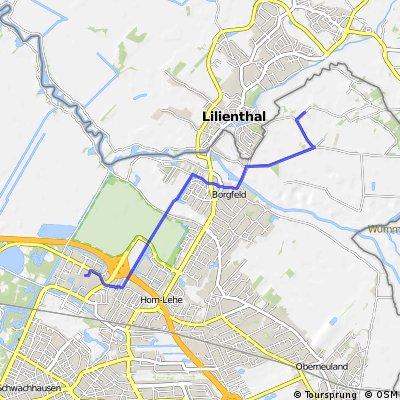 Stefan's Arbeitsweg (Timmersloh - Uni)