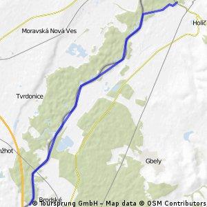 Moravská cyklocesta - severná časť