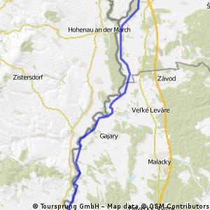 Moravská cyklocesta - Južná časť