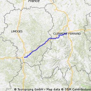 Brive la Gaillarde - Clermont Ferrand