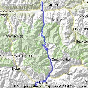 Großglockner Karte.Zell Am See Großglockner Hochalpenstraße Heiligenblut Lienz