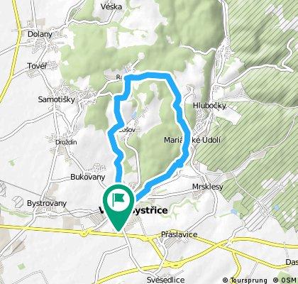 13 km hodinovka lesem na Posluchov