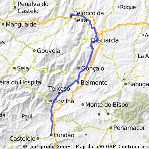 Via Lusitana 6. Etappe Fundao - Celerico de Beira