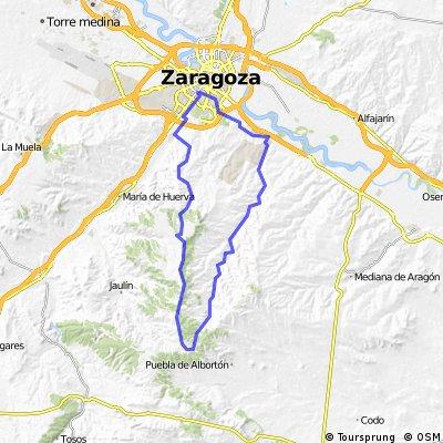 Atravesando la Plana y carretera Valmadrid