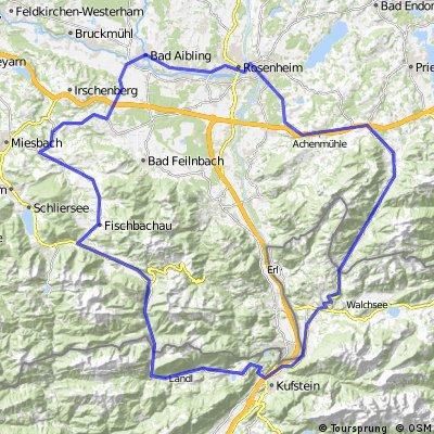 Bad Aibling - Bayrischzell - Kufstein - Frasdorf - Rosenheim