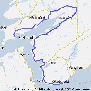 Rørvik - Brekstad along the coast