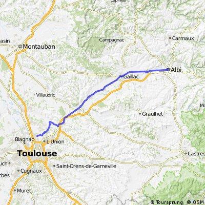 Albi - Toulouse 75KM