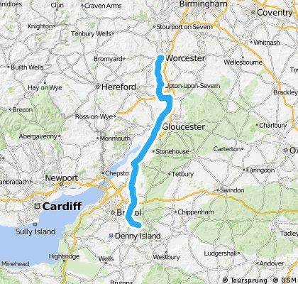 LEJoG day 4 - Bath to Worcester