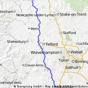 LEJoG Day 5 - Worcester  to Tarporley