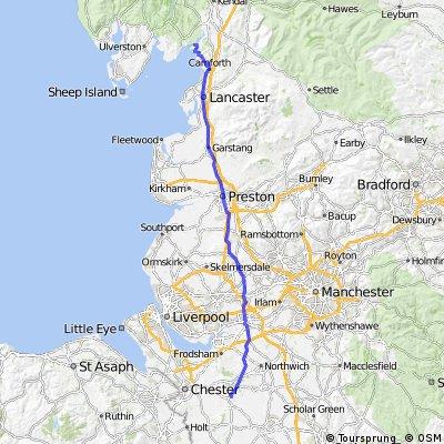 LEJoG Day 6 - Tarporley to Arnside