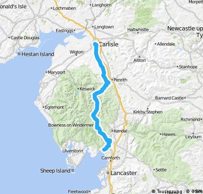 LEJoG Day 7 - Arnside to Carlisle via Kirkstone Pass