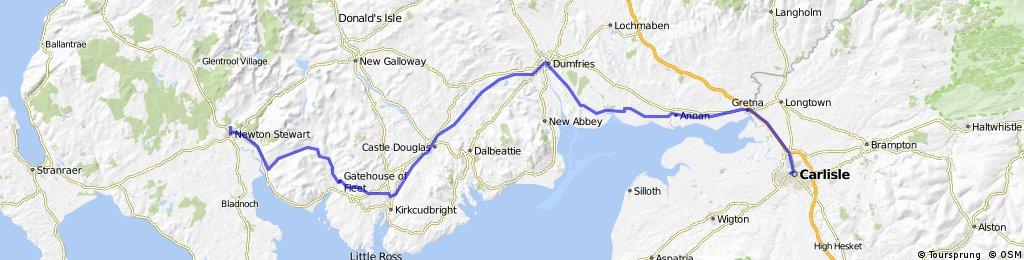 LEJoG Day 8 – Carlisle to Newton Stewart