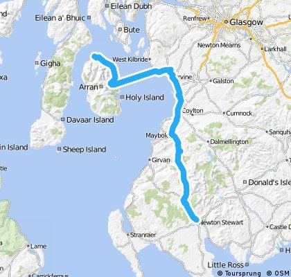 LEJoG Day 9 – Newton Stewart to Lochranza