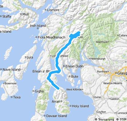 LEJoG Day 10 – Lochranza to Inveraray