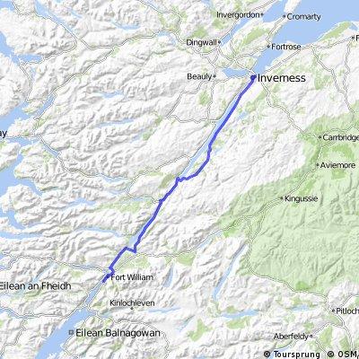 LEJoG Day 12 – Fort William to Inverness