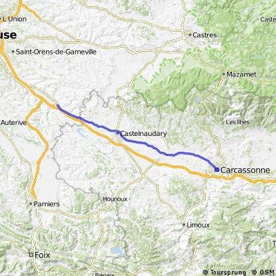 villefranche de lauragais to carcassonne