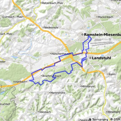 Map Of Germany Ramstein.Cycling Routes And Bike Maps In And Around Ramstein Miesenbach