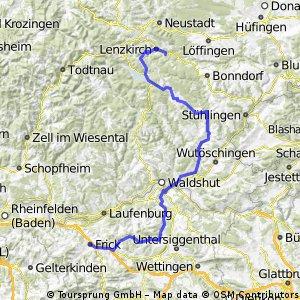4. Etappe Lenzkirch - Frick