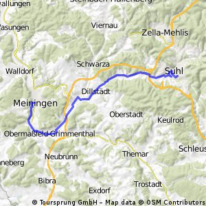 von Suhl nach Meiningen