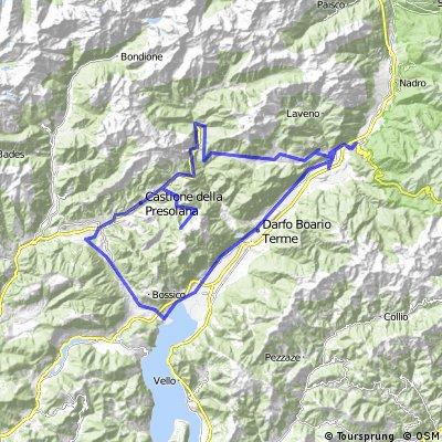 Breno - Croce di Scalve - Presolana - Monte Pora - Iseosee - Breno
