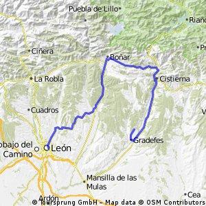 León - Boñar - Cistierna - Villanófar