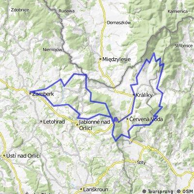Žamberk - Suchý vrch - Svatá Trojice - Morava - Červená Voda - Žamberk