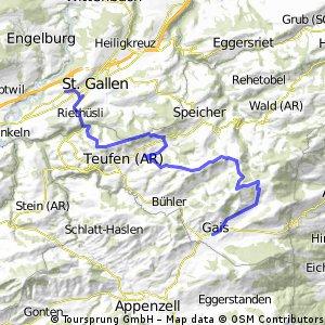 St.Gallen - Gäbris - Gais