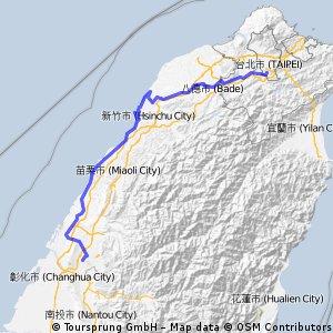 環島D1( 實際路線)
