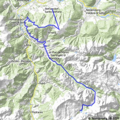 Bruneck - Fanes / Lavarella