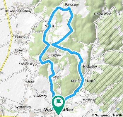 25 km Posluchov-Pohořany-Véska-Kopeček