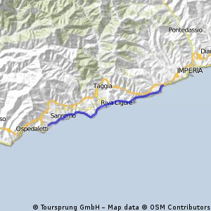 pista ciclabile costiera del ponente ligure