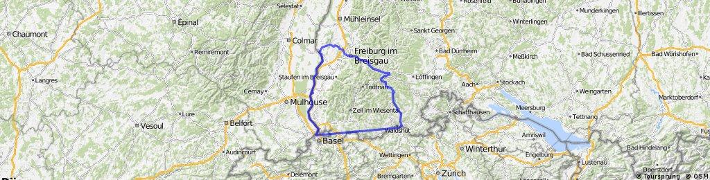 Basel Breisach Freiburg Schluchsee Waldshut 7tage Camping