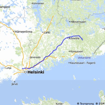 Espoo-Porvoo-Kouvola-Honkala