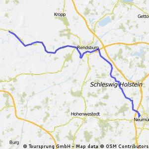 Norderstapel nach Neumünster-Flugplatz
