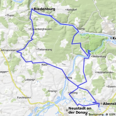 Radtour  Abensberg - Riedenburg - Abensberg