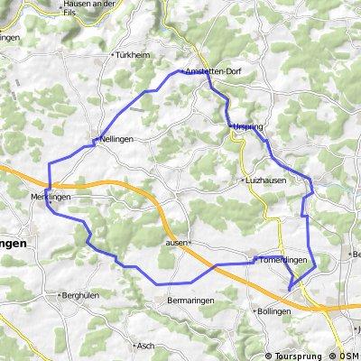 Dornstadt - Merklingen - Amstetten - oberes Lonetal